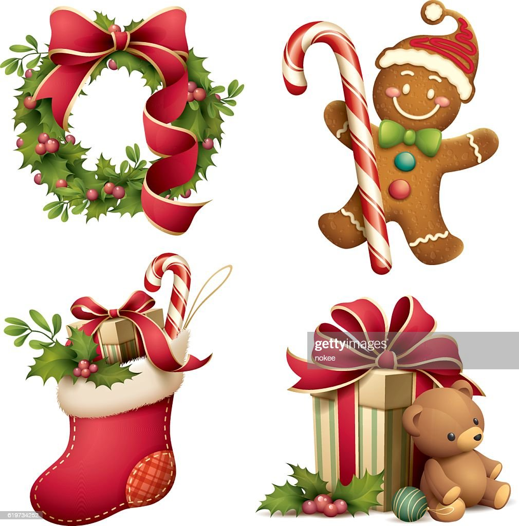 Christmas iconographic's set : stock illustration