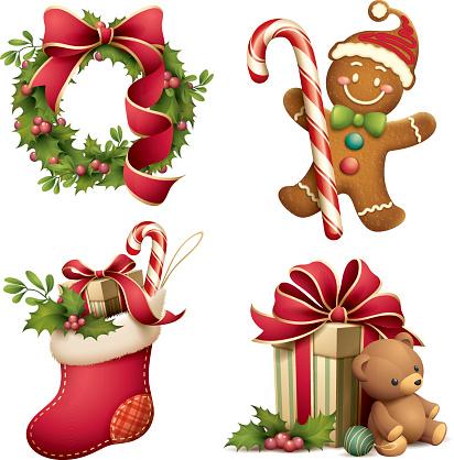 Christmas iconographic's set - gettyimageskorea