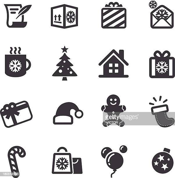 christmas icons - acme series - shopping list stock illustrations, clip art, cartoons, & icons