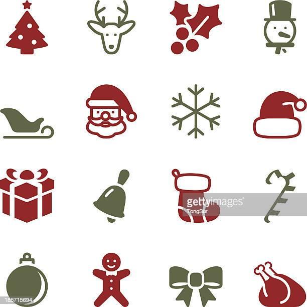 christmas icons - color series - mistletoe stock illustrations, clip art, cartoons, & icons