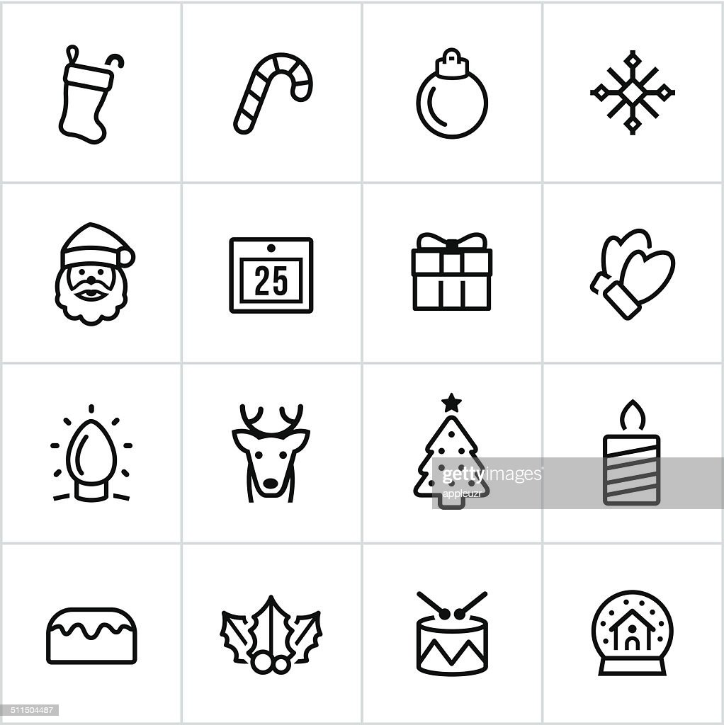 Christmas Icons - Line Style