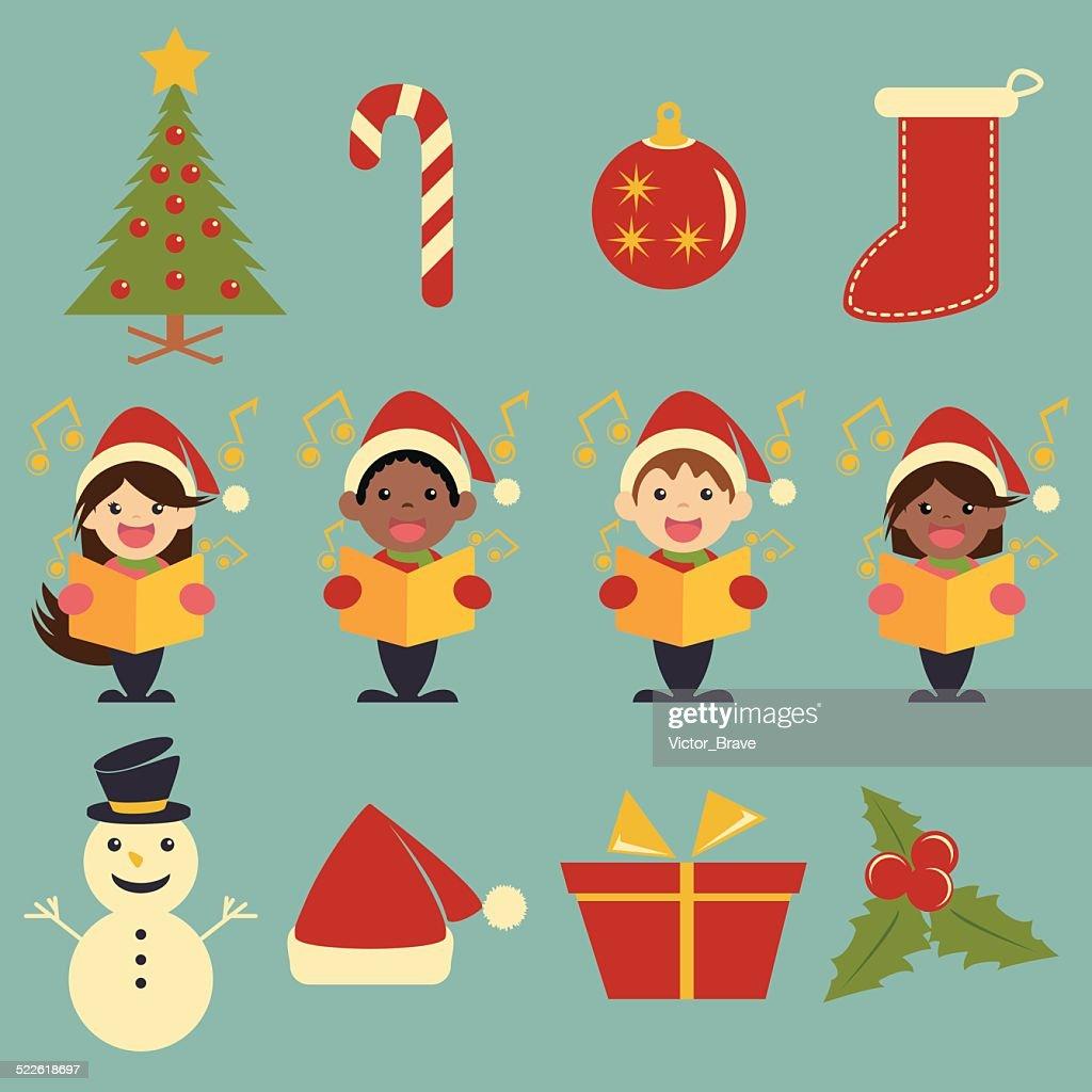 Christmas icons, set collection