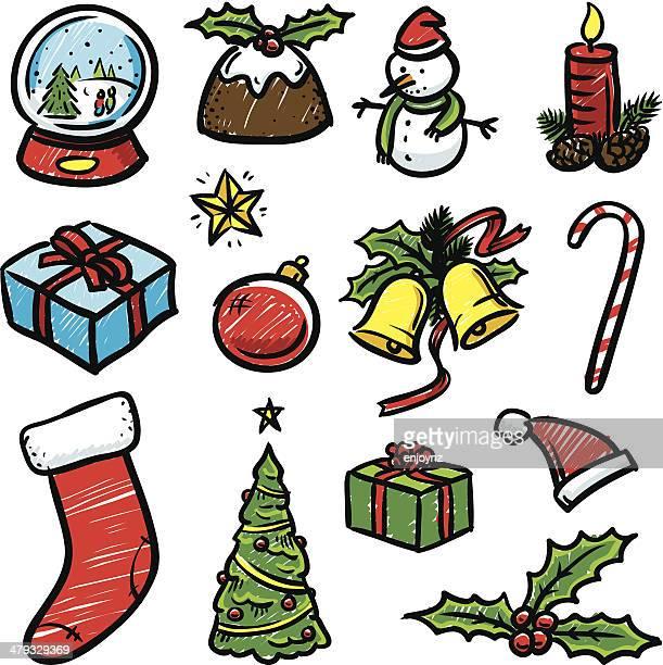 Iconos de Navidad bocetos