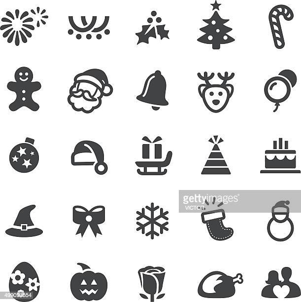 christmas icons - smart series - gingerbread man stock illustrations