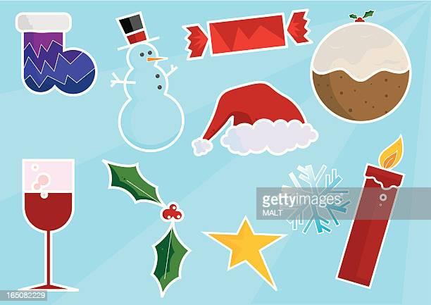 クリスマスのアイコン - クリスマスクラッカー点のイラスト素材/クリップアート素材/マンガ素材/アイコン素材