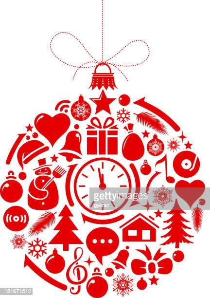 ilustrações de stock, clip art, desenhos animados e ícones de ícones de natal - ver a hora
