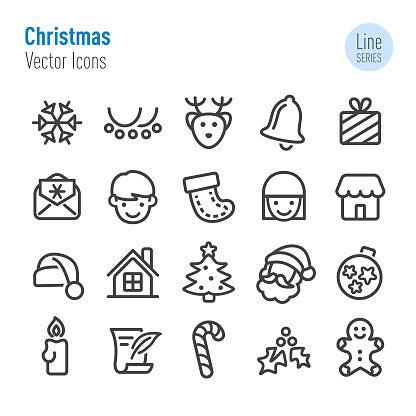 Christmas Icons - Vector Line Series - gettyimageskorea