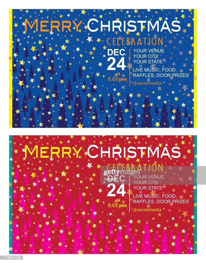 Tarjeta De Invitación De Navidad Ilustración De Stock