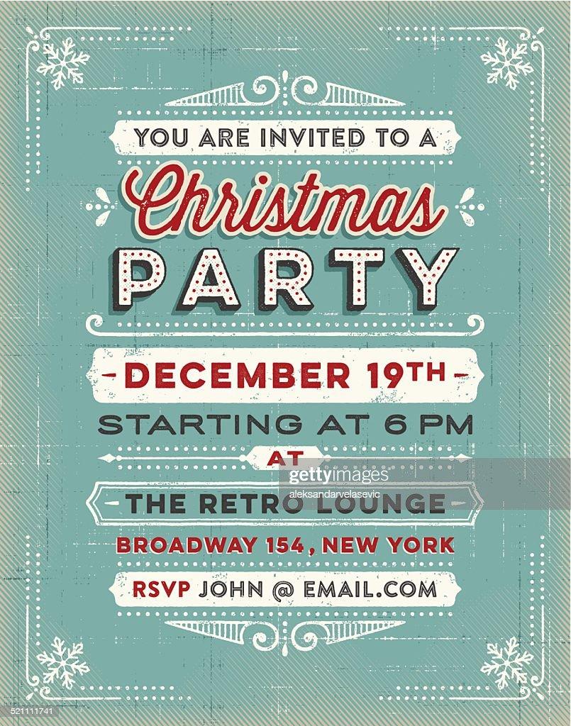 Christmas Invitation : Vector Art