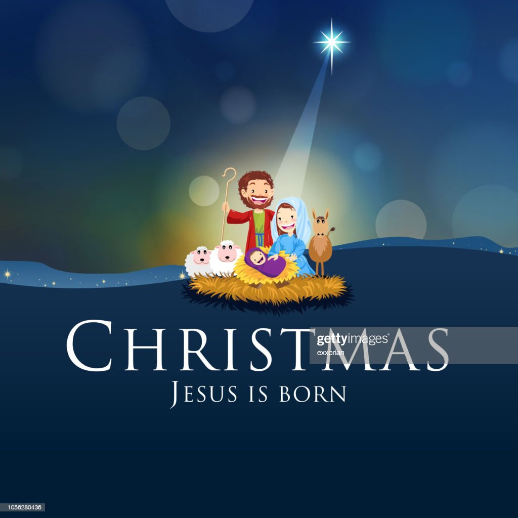 Christmas Jesus Is Born High-Res Vector Graphic - Getty Images