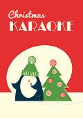 christmas karaoke penguin