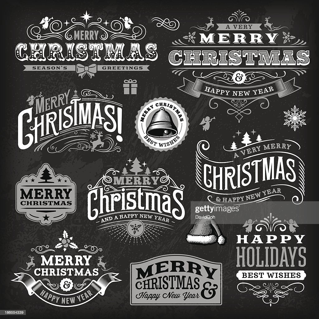 Christmas Label Set - Chalkboard