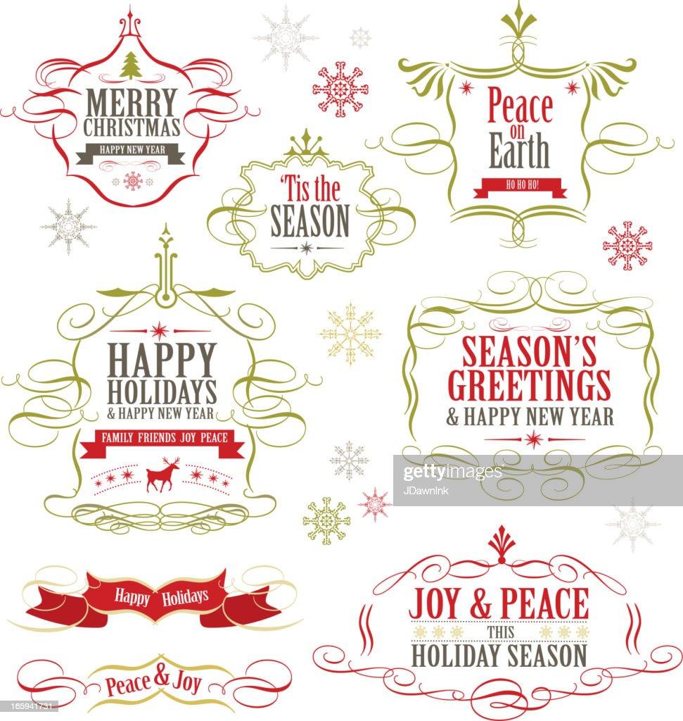 Christmas label set of designs