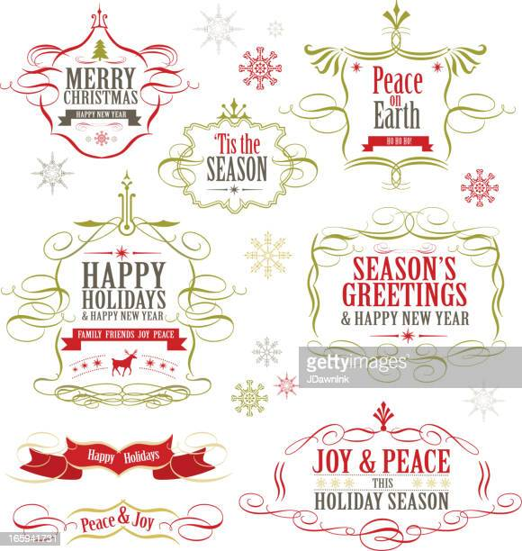 Christmas label set of designs