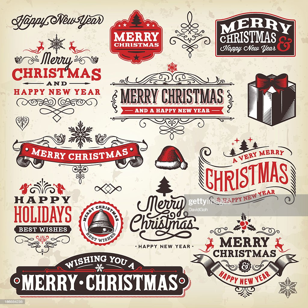 Christmas Label Set