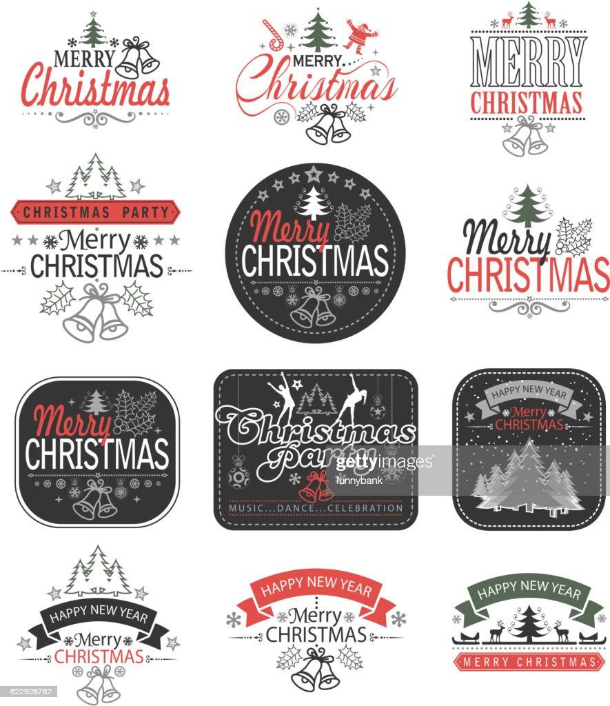 christmas label : stock illustration