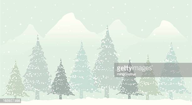 christmas landscape pattern - frost stock illustrations, clip art, cartoons, & icons
