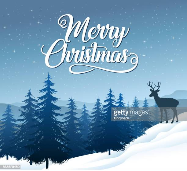 weihnachten landschaft - dezember stock-grafiken, -clipart, -cartoons und -symbole