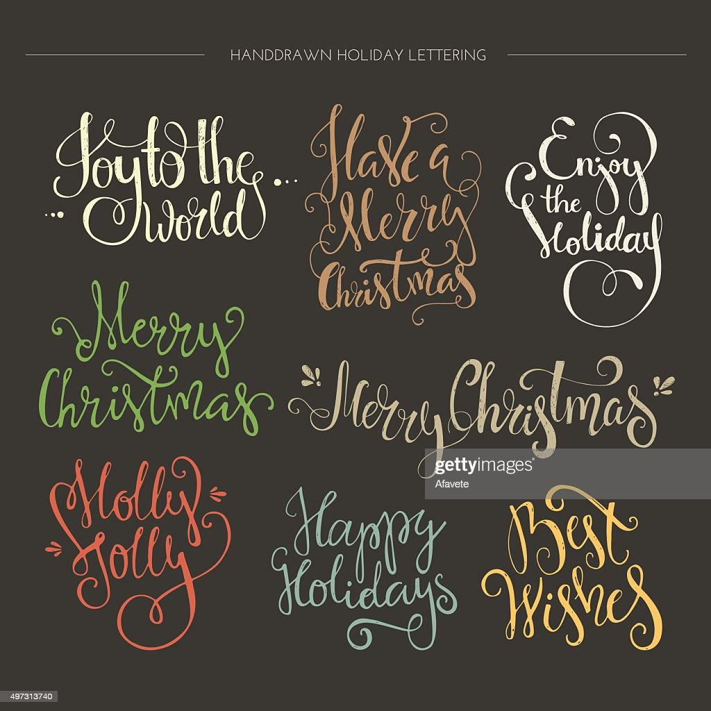 Christmas Lettering Collection