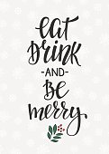 Christmas lettering typography