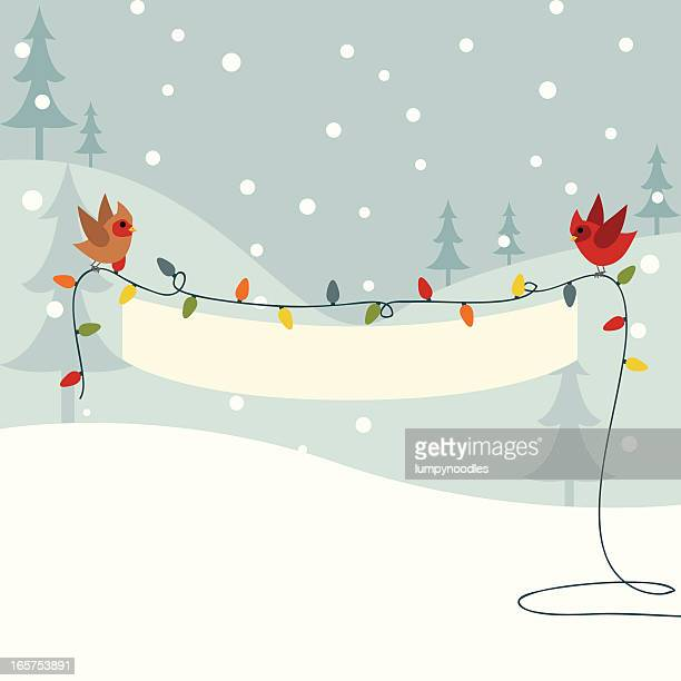 christmas light banner - string stock illustrations