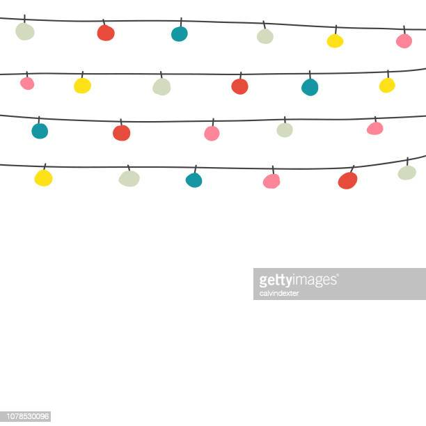 christmas lights background and greeting card - sparks stock illustrations