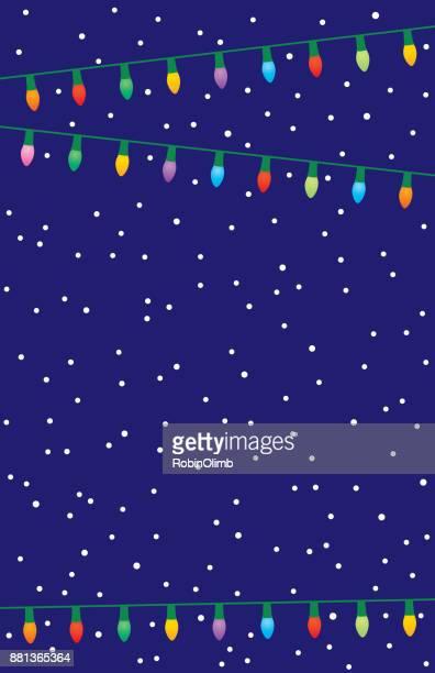 christmas lights on a blue background - christmas lights stock illustrations