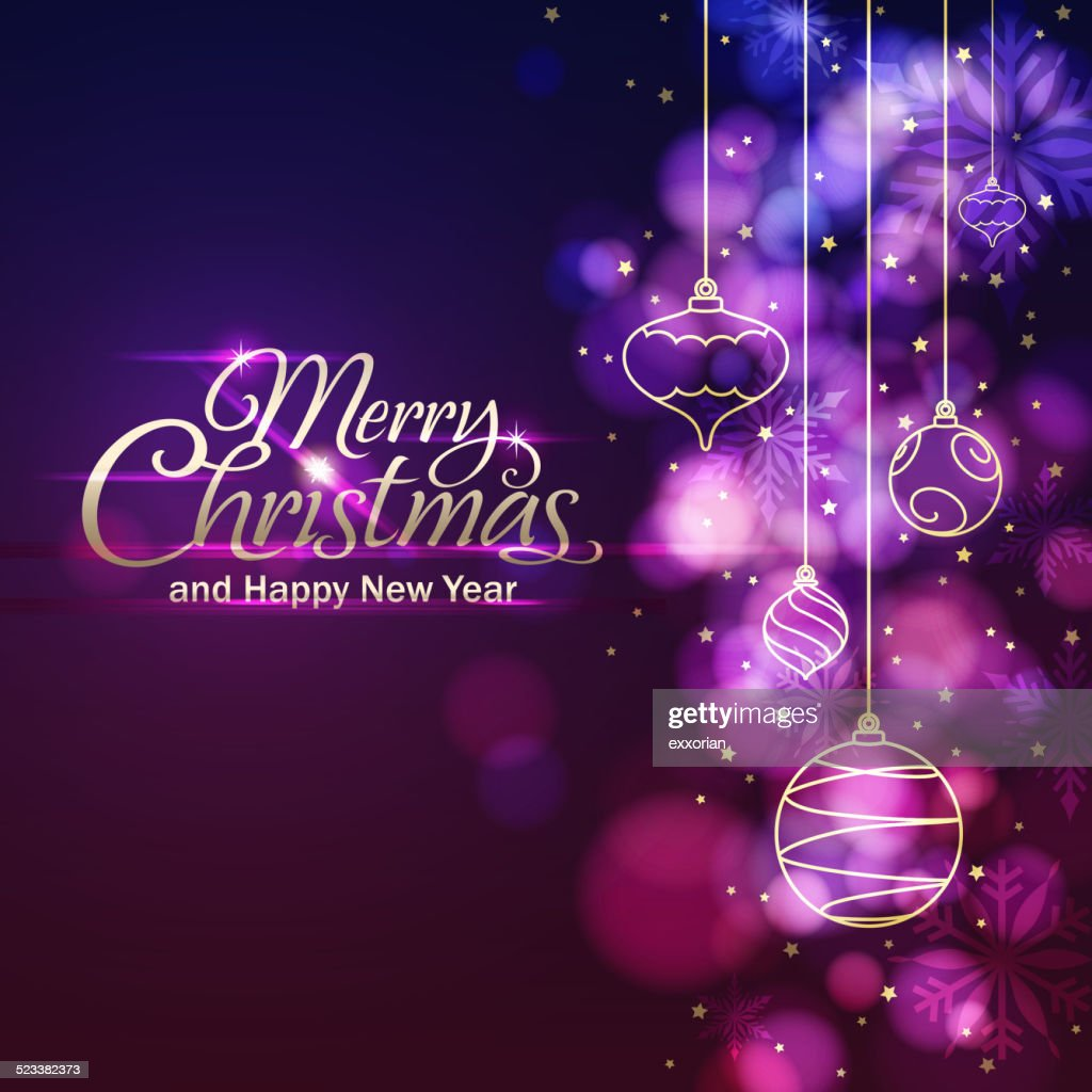 Christmas Lights & Ornamnets Background
