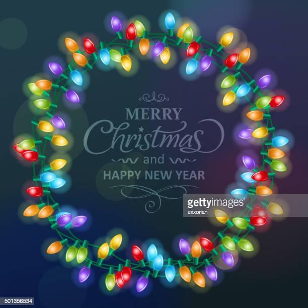 クリスマスイルミネーションのリース