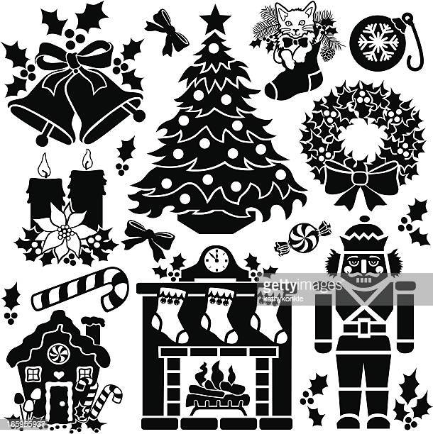 christmas living room - gingerbread house stock illustrations, clip art, cartoons, & icons