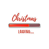 Christmas loading. Abstract design.