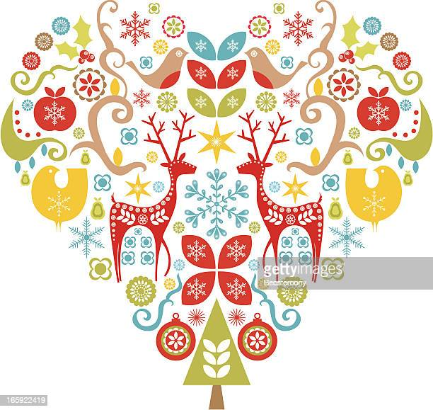 christmas love - craft product stock illustrations
