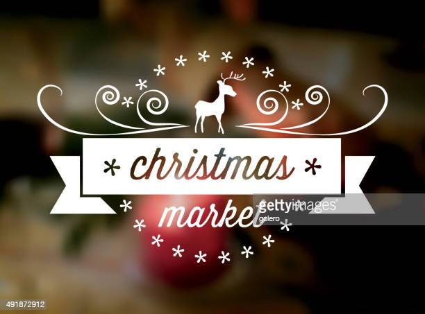 クリスマスマーケットラインアートアイコンをぼかし fbackground - クリスマスマーケット点のイラスト素材/クリップアート素材/マンガ素材/アイコン素材