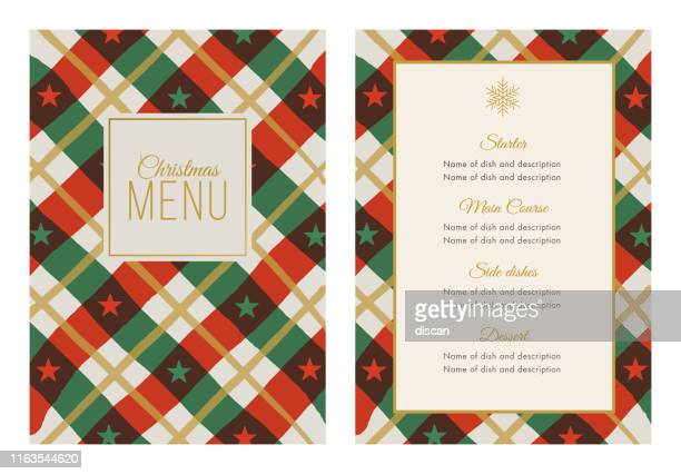 christmas menu template with stars and stripes. - answering stock illustrations