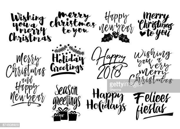 Christmas modern lettering Greetings