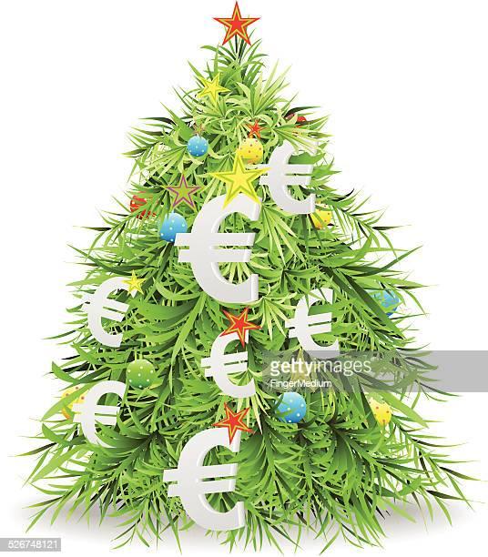 money christmas treeのイラスト素材と絵 getty images