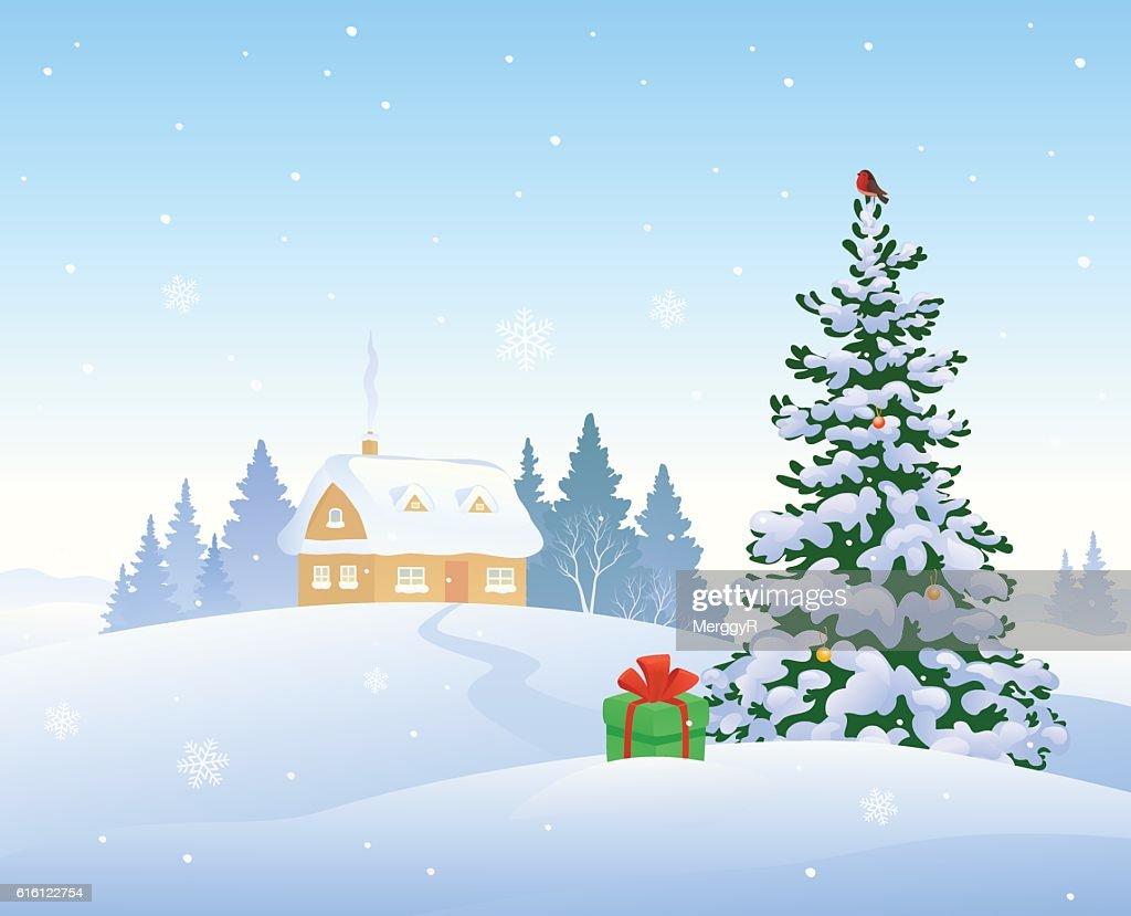Christmas morning house
