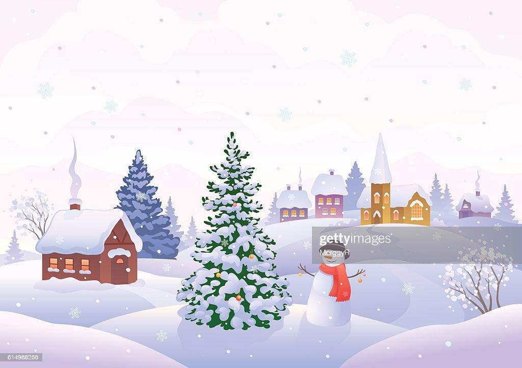 Christmas morning scene