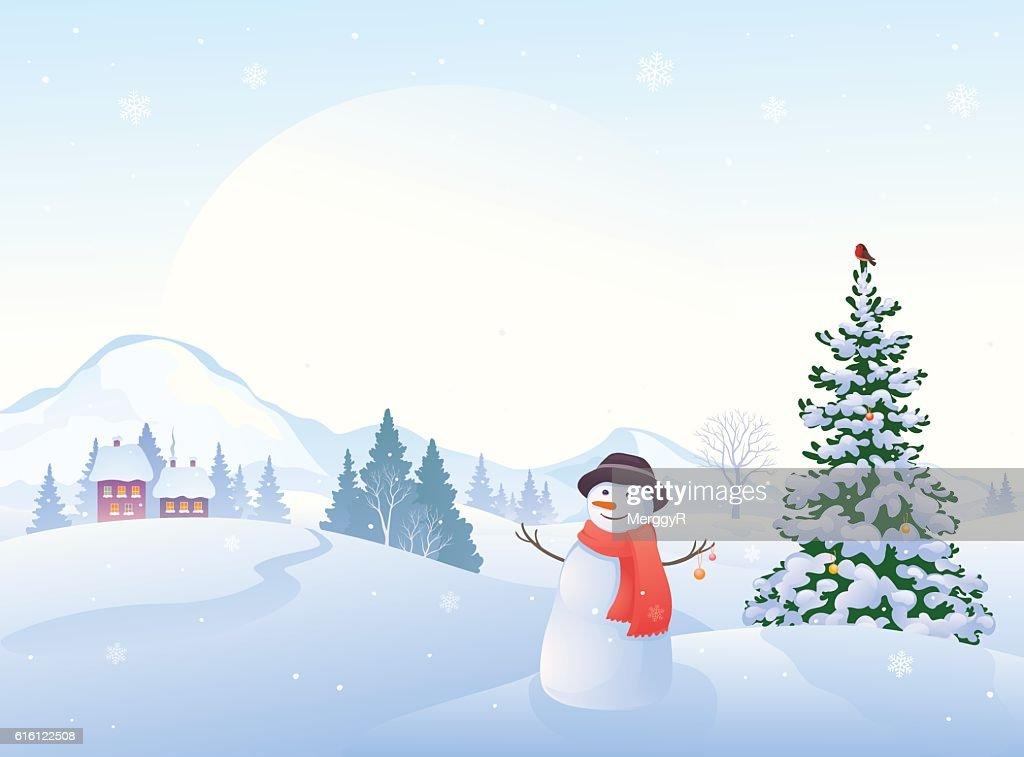 Christmas morning snowman