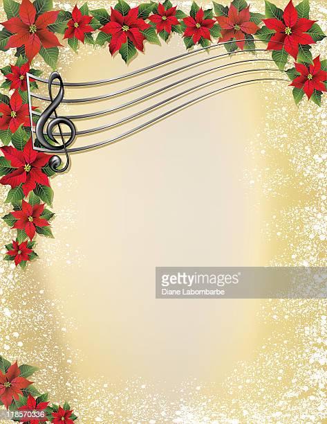 christmas music background - christmas music stock illustrations