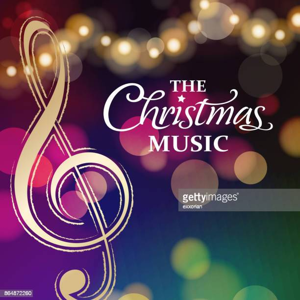 christmas music party night - christmas music stock illustrations