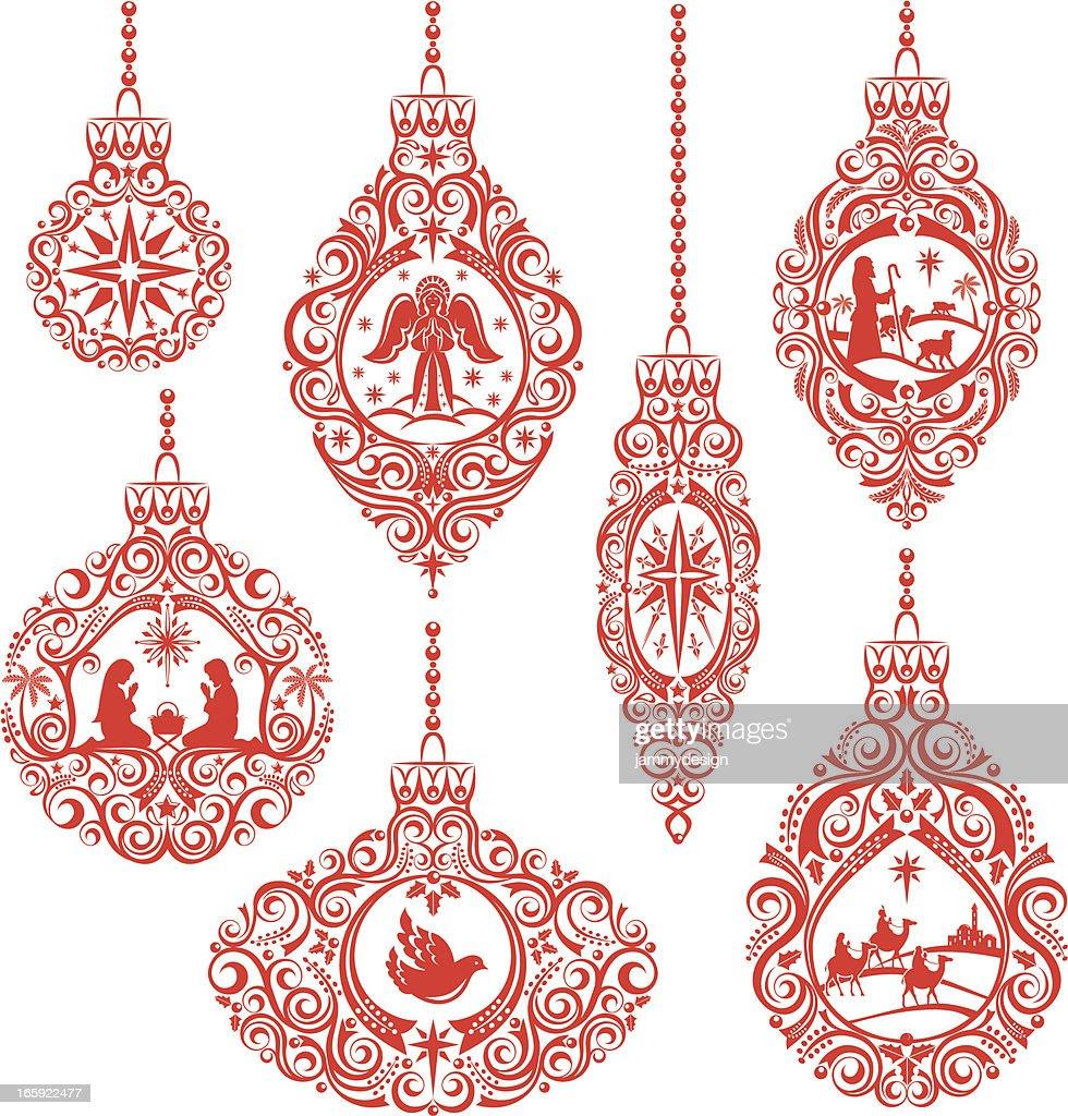 Christmas Nativity Ornaments