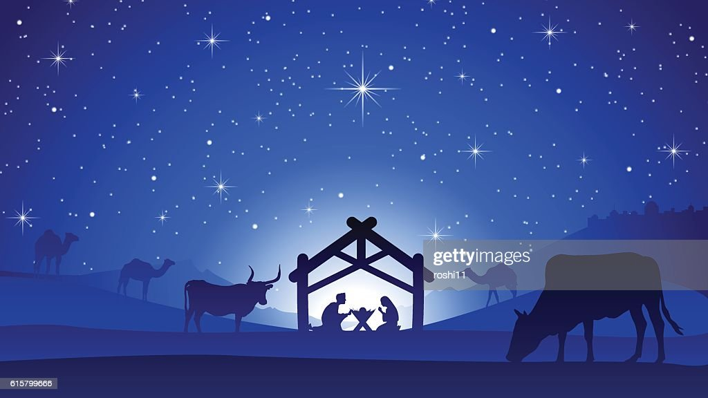 Christmas Nativity Scene - Birth of Jesus Christ