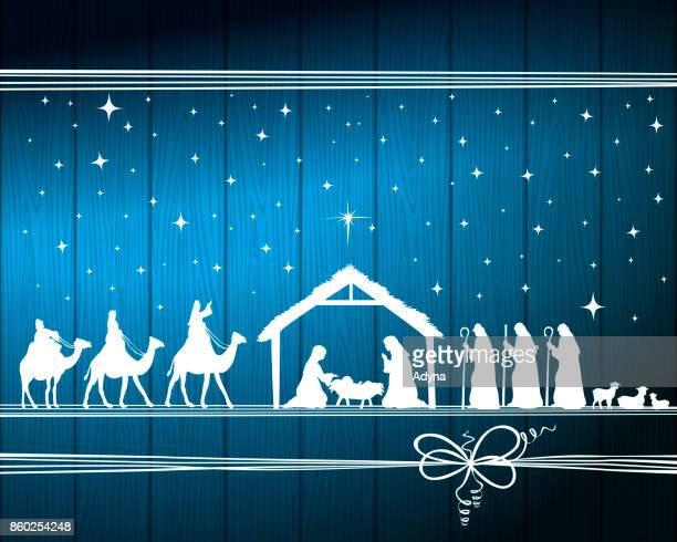 ilustraciones, imágenes clip art, dibujos animados e iconos de stock de christmas nativity - los tres reyes magos