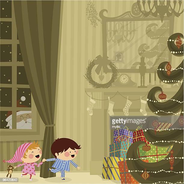 christmas night - hidden stock illustrations, clip art, cartoons, & icons