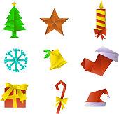 Christmas origami Icons