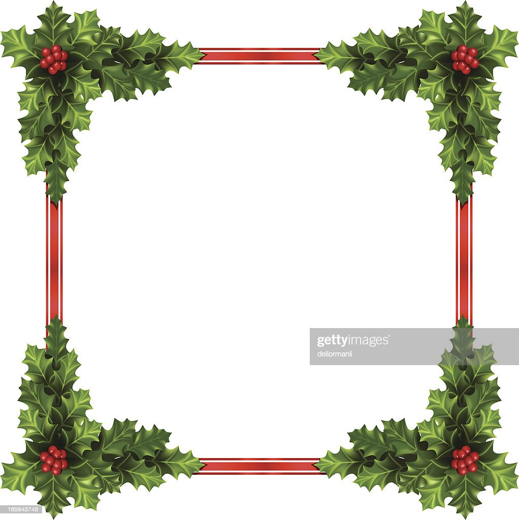 Christmas Ornament Frame Vector Art | Getty Images
