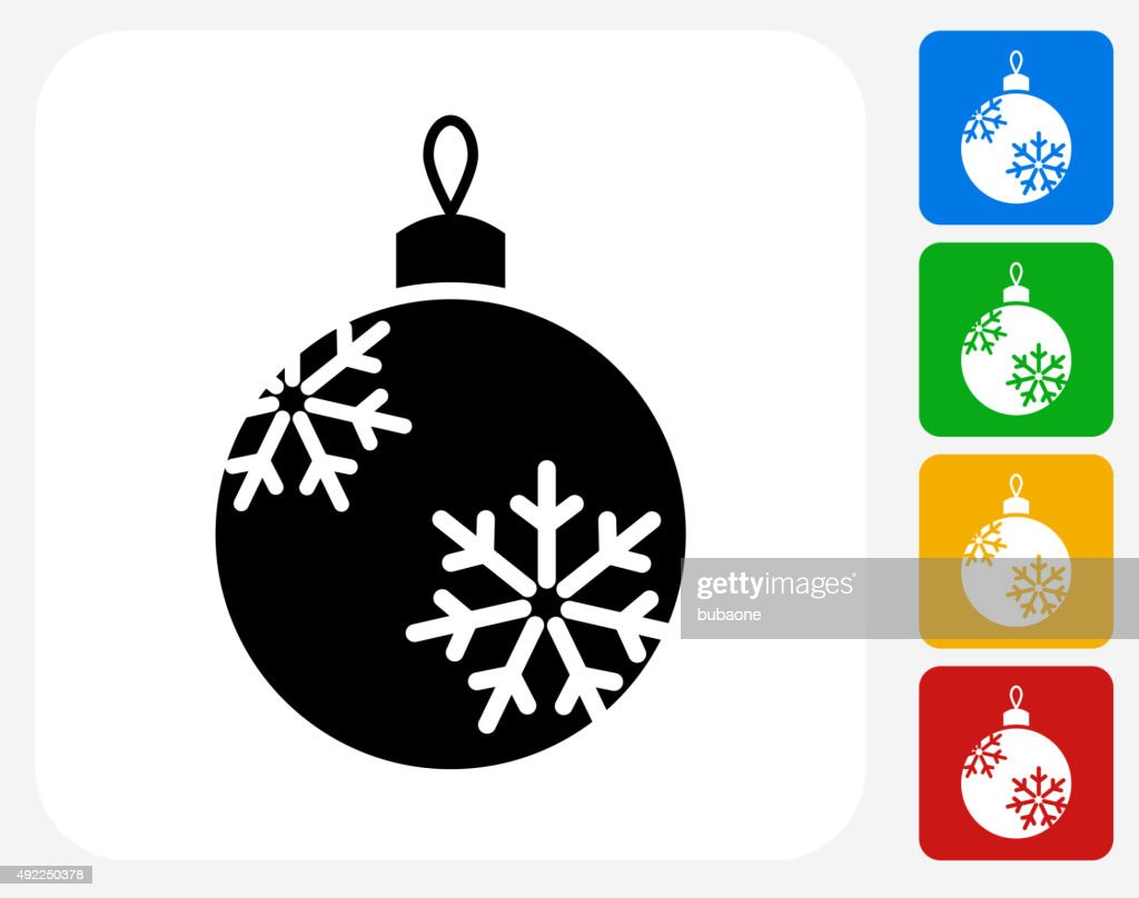 christmas ornament icon flat graphic design vector art getty images rh gettyimages com christmas ornament vector art christmas ornament vector free