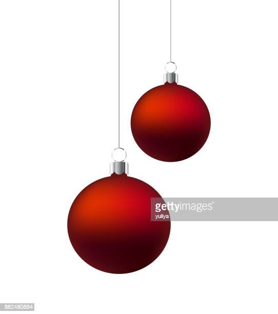 Christmas Ornament Red And Silver Hanging