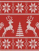Christmas ornament - Red Sweater with deers